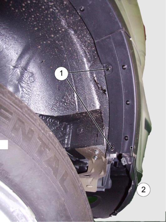 Крепление бампера к арке заднего колеса правой/левой