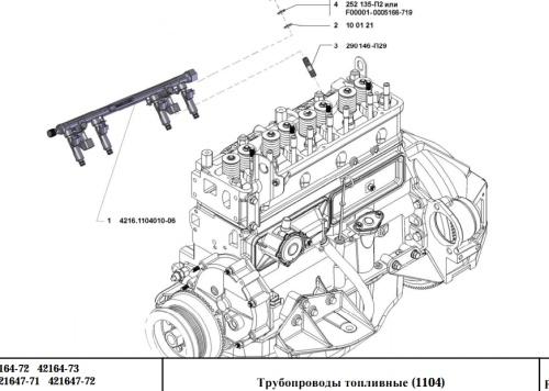 Каталог деталей двигателей