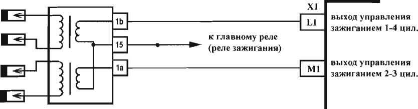 Схема системы зажигания