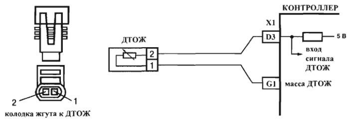Схема подключений датчика