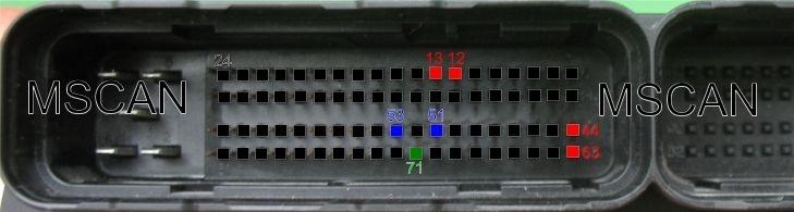 Подключение проводов к контроллеру М73