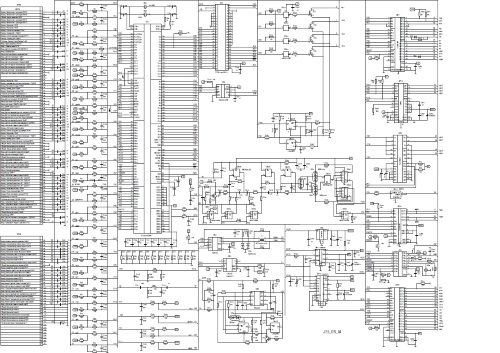 Электросхема электронного блока управления двигателем М73