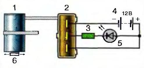 Схема проверки датчика положения распределительного вала ЗМЗ-406