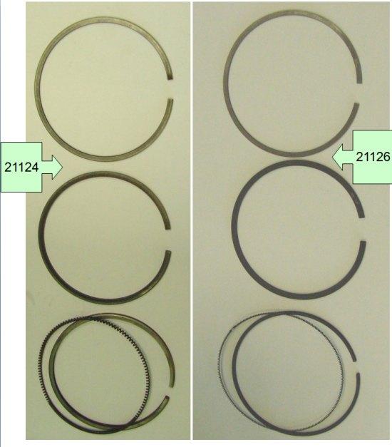 Поршневые кольца ВАЗ 21126 и ВАЗ 21124