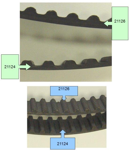Ремни привода ГРМ 21126 и 21124