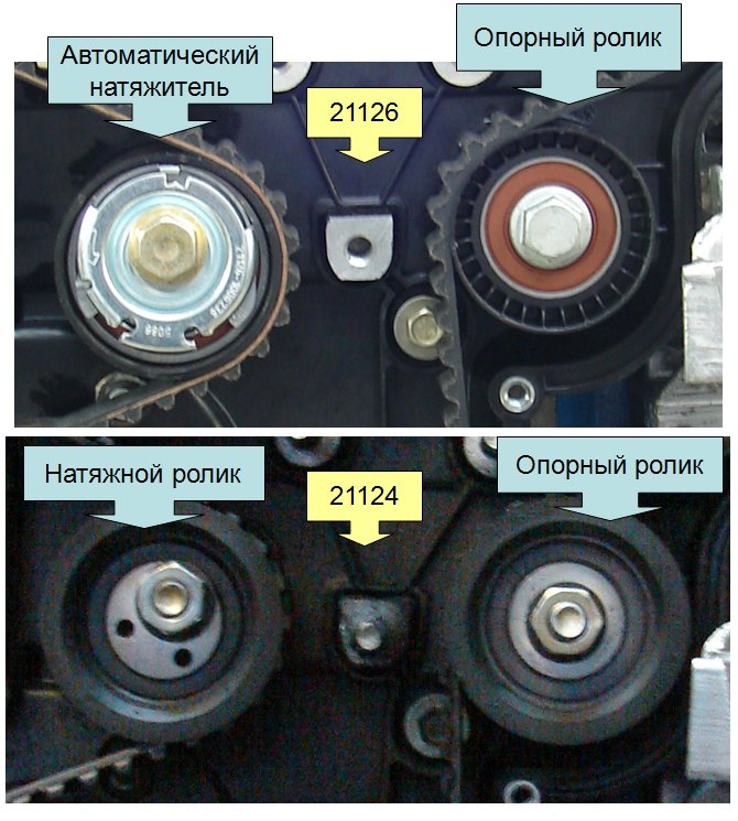 Опорные ролики и механизмы натяжения ремней привода ГРМ
