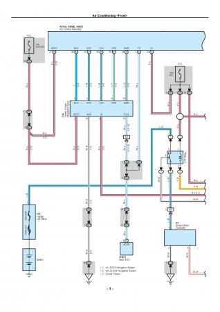 Электросхема подключения кондиционера Lexus LX470