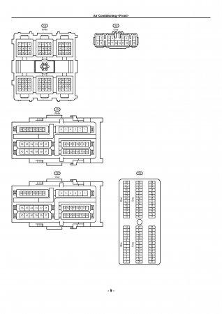 Lexus LX470 - электрическая схема кондиционера (front)