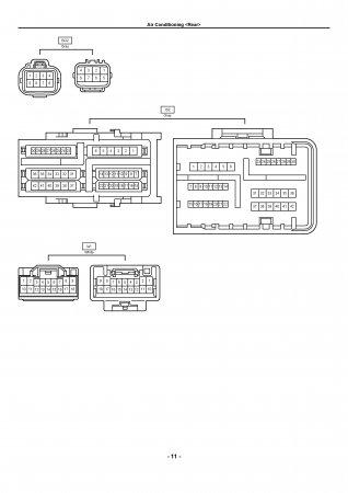 Lexus LX470 - электрическая схема кондиционера (rear)