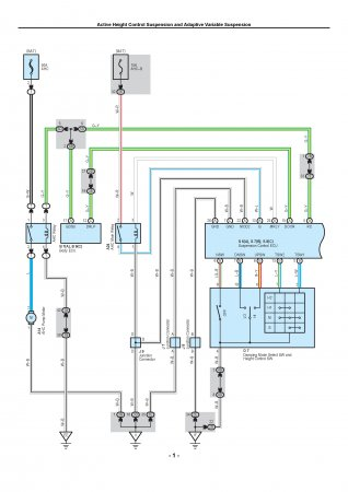 Lexus LX470 - электрическая схема управления подвеской