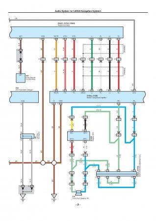 Lexus LX470 - электрическая схема подключения бортовой навигации и аудиосистемы