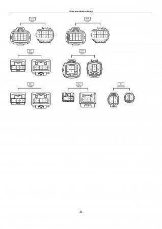 Lexus LX470 - схема расположения жгутов проводов и электрооборудования