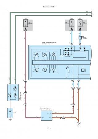 Lexus LX470 - схема панели приборов