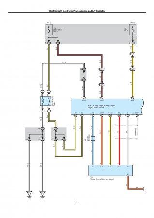 Lexus LX470 - электронная система управления трансмиссией (ECT)