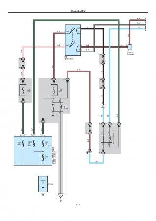 Lexus LX470 - схема подключений системы управления двигателем