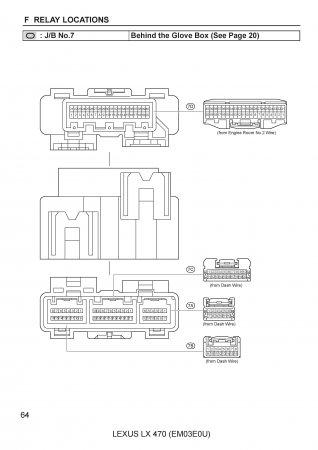 Lexus LX470 - электрическая схема освещения салона