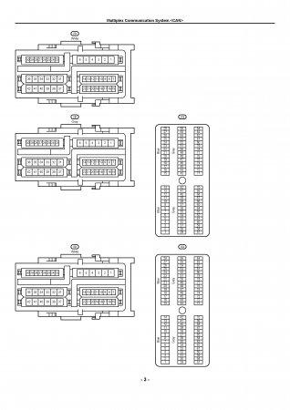 Lexus LX470 - электрическая схема CAN bus