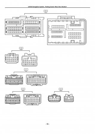 Lexus LX470 - электрическая схема навигации и парктроника