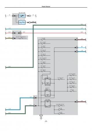 Lexus LX470 - электрическая схема источника питания