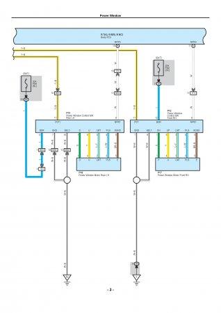 Lexus LX470 - электрическая схема стеклподъемников