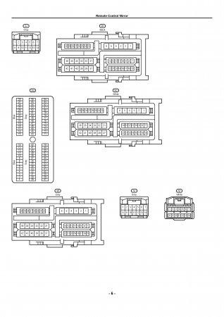 Lexus LX470 - электрическая схема электропривода зеркал
