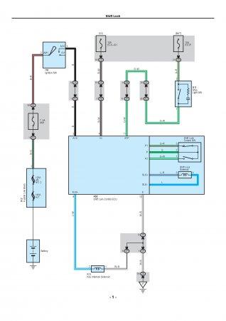 Lexus LX470 - электрическая схема shift lock АКПП