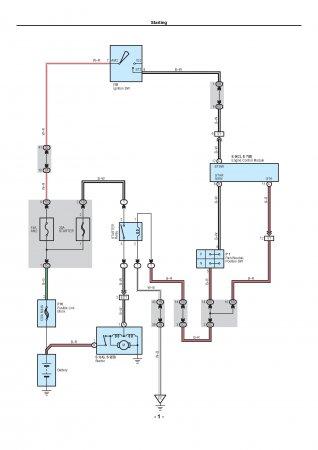 Lexus LX470 - электрическая схема подключения стартера