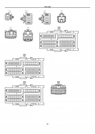 Lexus LX470 - электрическая схема стоп-сигналов