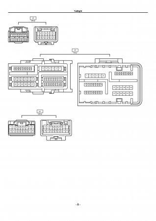 Lexus LX470 - электрическая схема задних фонарей