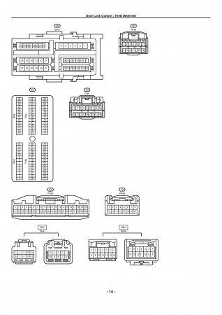 Lexus LX470 - электрическая схема центрального замка и сигнализации