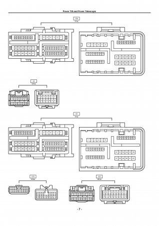 Lexus LX470 - электрическая схема люка