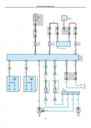 Lexus LX470 - электрическая схема системы контроля давления в шинах