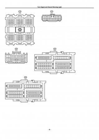 Lexus LX470 - электрическая схема сигналов поворота и аварийной световой сигнализации
