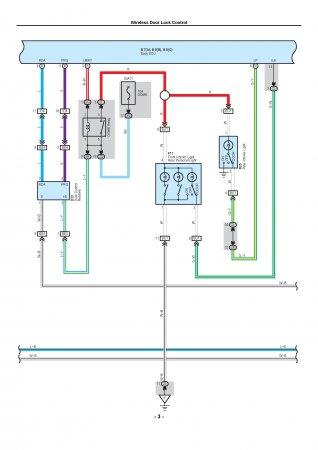 Lexus LX470 - электрическая схема подключений центрального замка